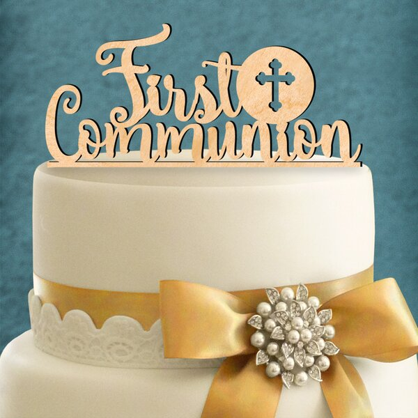 First Communion Cake Topper by aMonogram Art Unlimited