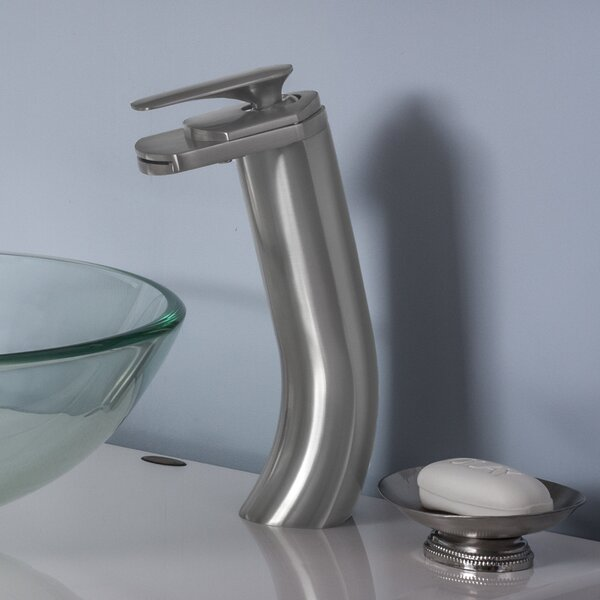 Cascade Waterfall Vessel Faucet Set by Novatto