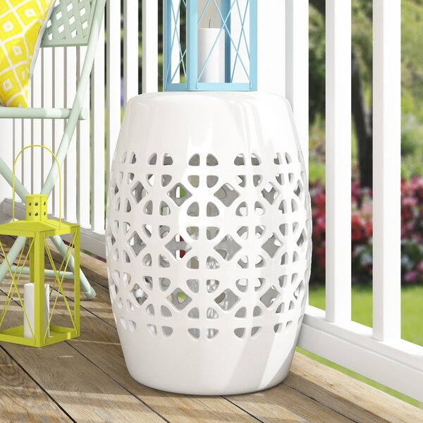 Dreyer Circle Lattice Garden Stool by Mistana