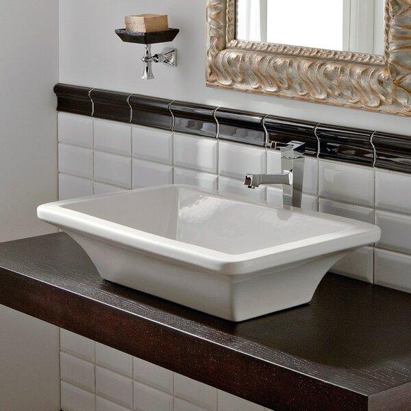 Butterfly Ceramic Specialty Vessel Bathroom Sink by Scarabeo by Nameeks