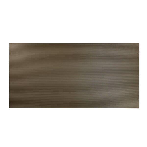 Rib 48 x 96 PVC Backsplash Panel in Target Bronze by Fasade