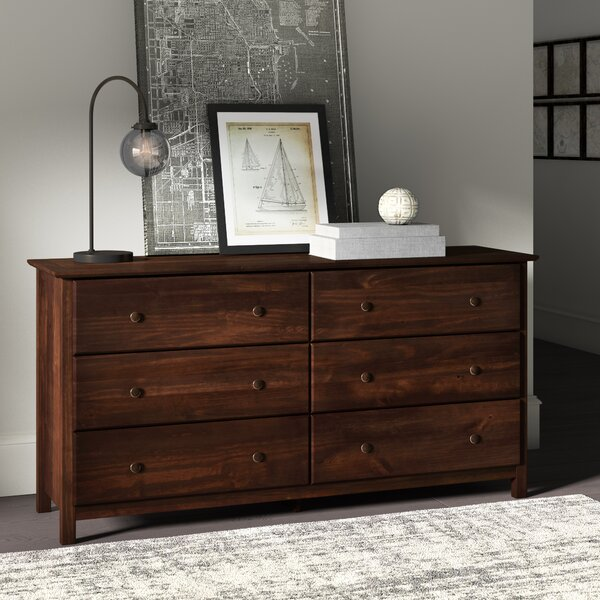 Shaker 6 Drawer Double Dresser by Grain Wood Furniture