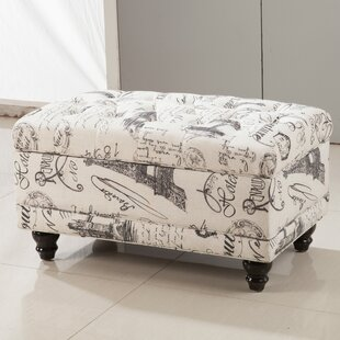 Read Reviews Traditional Paris Vintage French Writing Button Tufted Wood Storage Bench ByBellasario Collection