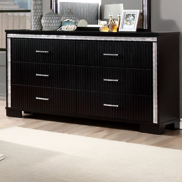 Viridian 6 Drawer Double Dresser by House of Hampton