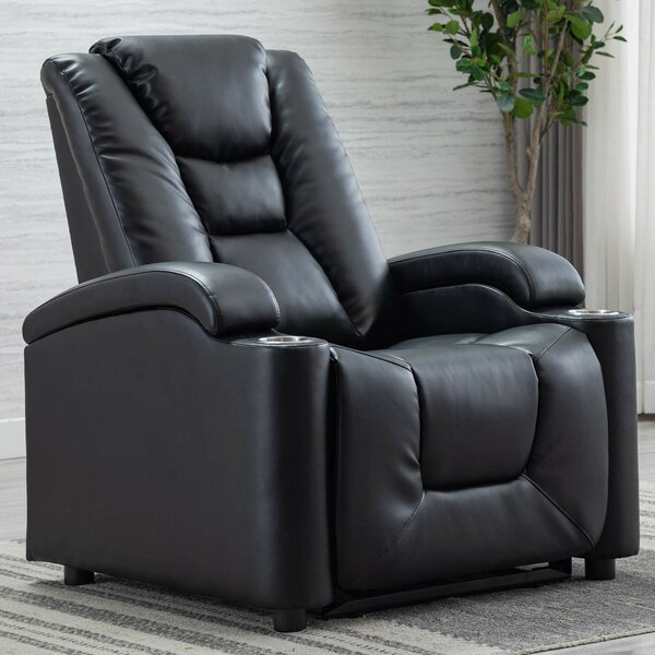 Electric Power Recliner Chair Faux Leather Home Theater Individual Seating W002714840
