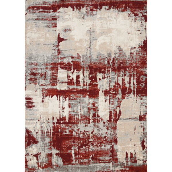 Heeter Ivory/Red Area Rug by Williston Forge