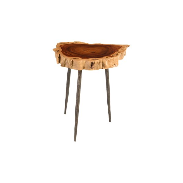 Claudine Makha Burled Wood End Table by Foundry Select