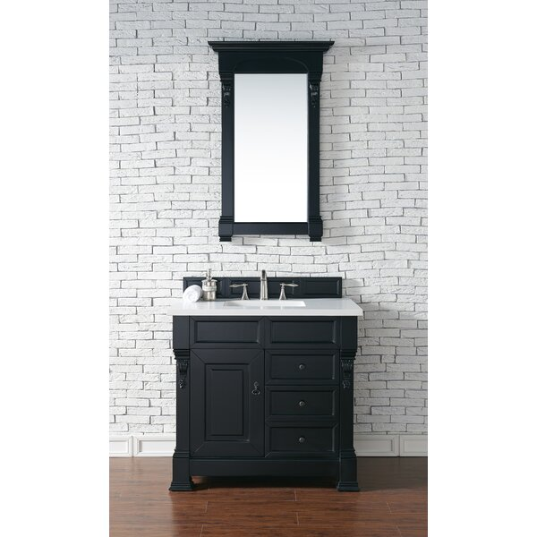 Bedrock 36 Single Antique Black Bathroom Vanity Set with Drawers by Darby Home CoBedrock 36 Single Antique Black Bathroom Vanity Set with Drawers by Darby Home Co