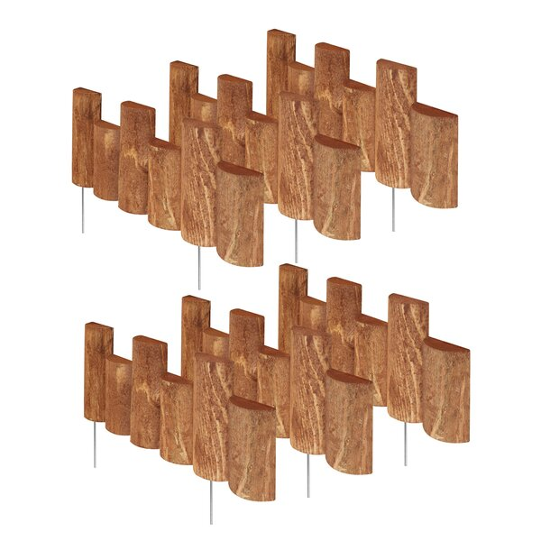 7 in. H x 18 in. W 6 Pack Half Log Edging (Set of 6) by Greenes Fence