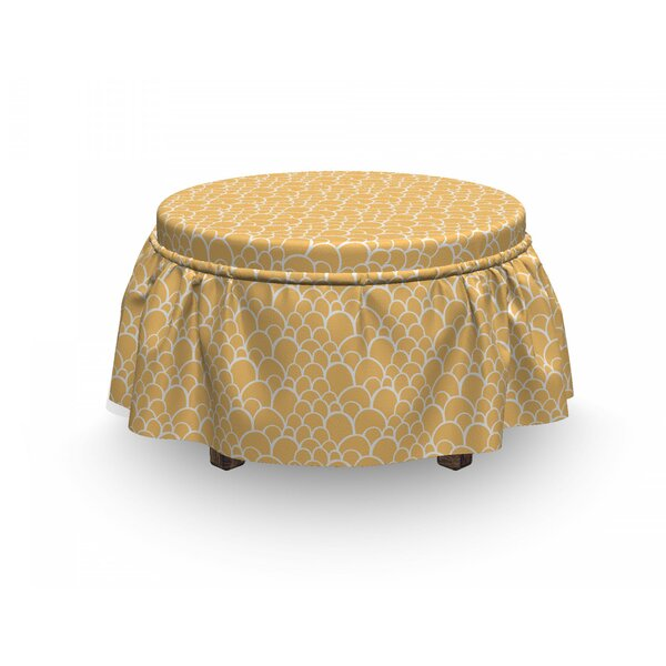 Exotic Animal Skin Ottoman Slipcover (Set Of 2) By East Urban Home