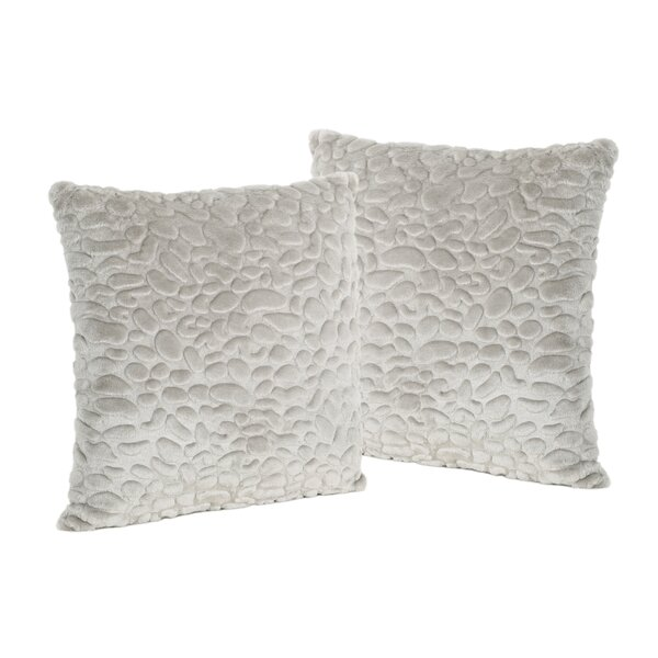 Hamblen Furry Faux Fur Throw Pillow (Set of 2) by Greyleigh