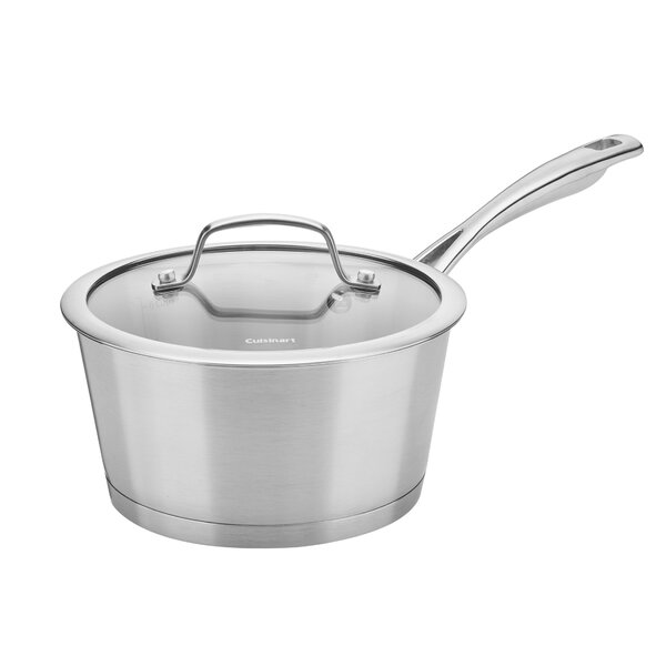 Conical Induction 2 qt. Stainless Steel Sauce Pan with Lid by Cuisinart