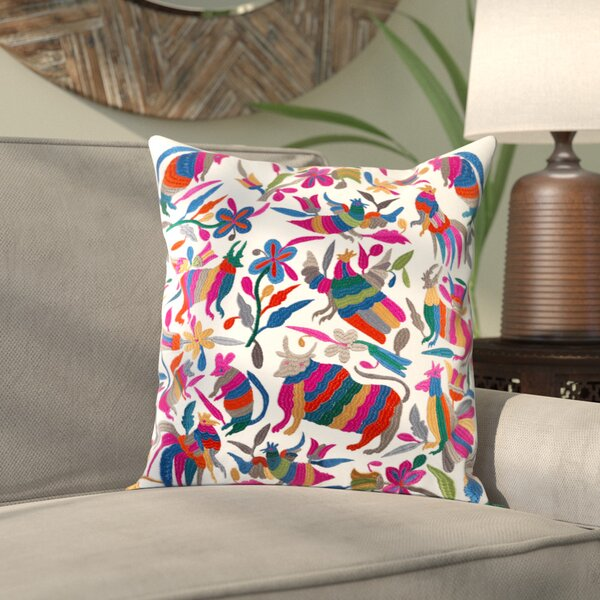 Ranjeeta Cotton Throw Pillow by Bungalow Rose