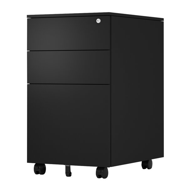 Alyias 3 Drawer Mobile Vertical Filing Cabinet