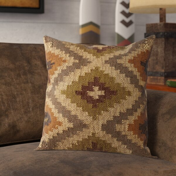 Imran Geometric Throw Pillow by Loon Peak