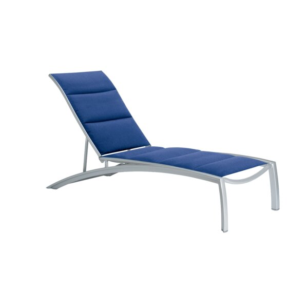 South Beach Padded Sling Reclining Chaise Lounge by Tropitone Tropitone
