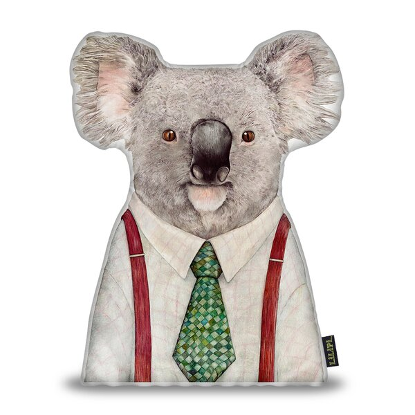 Jetton Koala Throw Pillow by Wrought Studio