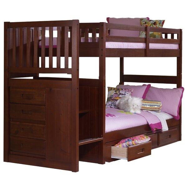 Elliott Twin over Twin Staircase Slat Bunk Bed by Harriet Bee