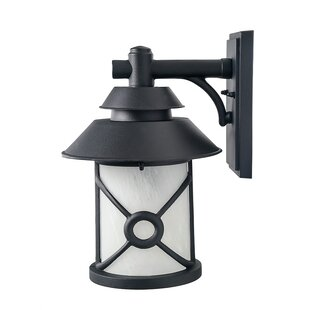 Inexpensive Waring 1-Light Outdoor Wall Sconce By Breakwater Bay