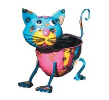 Sydni Cat Metal Statue Planter by August Grove