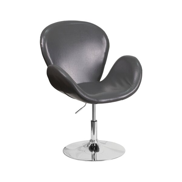 Orlie Leather Lounge Chair by Orren Ellis