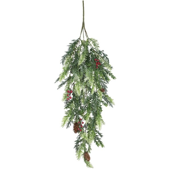 Pine and Hemlock Iced Swag (Set of 2) by Millwood