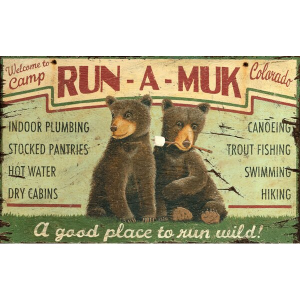 Run A Muk Vintage Advertisement Plaque by Millwood Pines