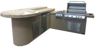Aruba BBQ Island Outdoor Kitchen 3-Burner Built-In Convertible Gas Grill by Kokomo Grills