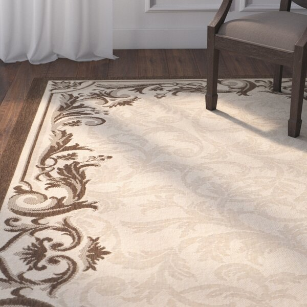 Newell Natural/Olive Indoor/Outdoor Rug by Darby Home Co
