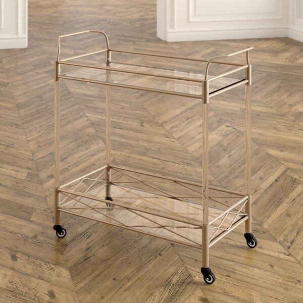 Anesicia 2-Tiered Storage Bar Cart By Everly Quinn Today Sale Only