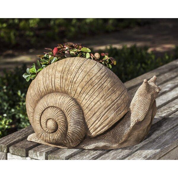 Doorkeeper Snail Cast Stone Statue Planter by Campania International