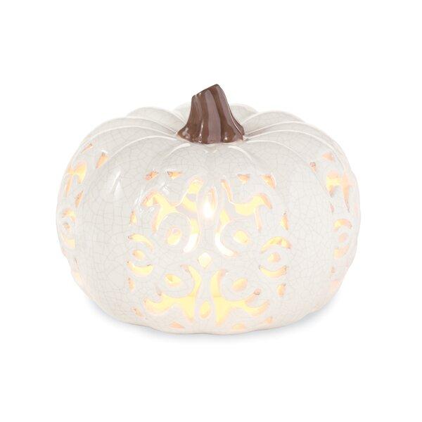 Pumpkin Ceramic Lantern by Mud Pie™