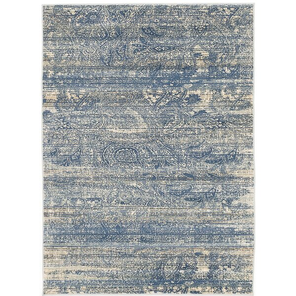 Shawn Dark Blue Area Rug by Bungalow Rose