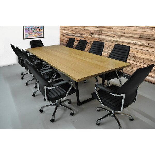 Radner 11 Piece Rectangular 30H x 48W x 120L Conference Table Set by Brayden Studio