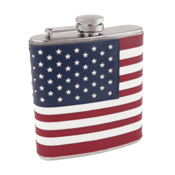 American Flag in Stainless Steel Flask by Foster & Rye