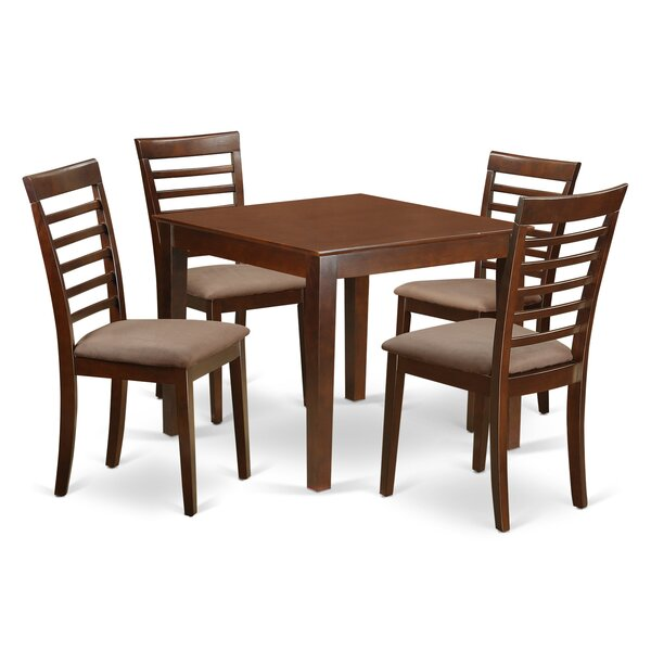 Cobleskill Microfiber Upholstery 5 Piece Dining Set by Alcott Hill