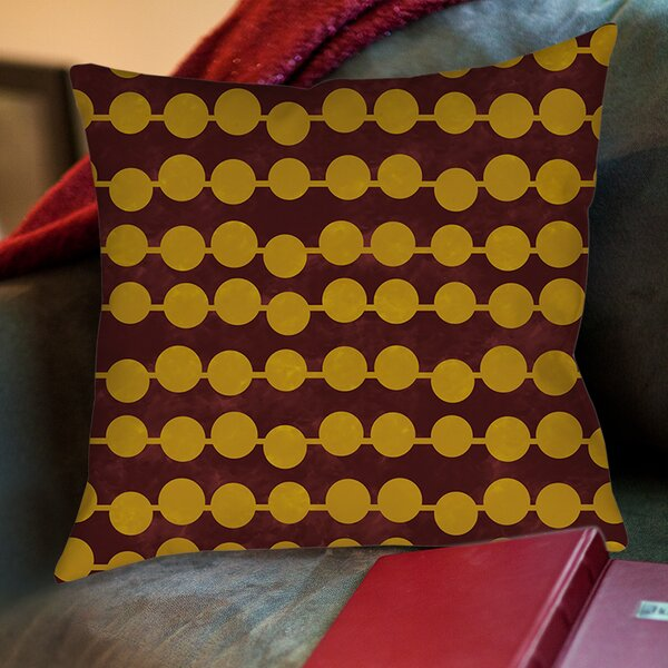 Line Dots Printed Throw Pillow by Manual Woodworkers & Weavers