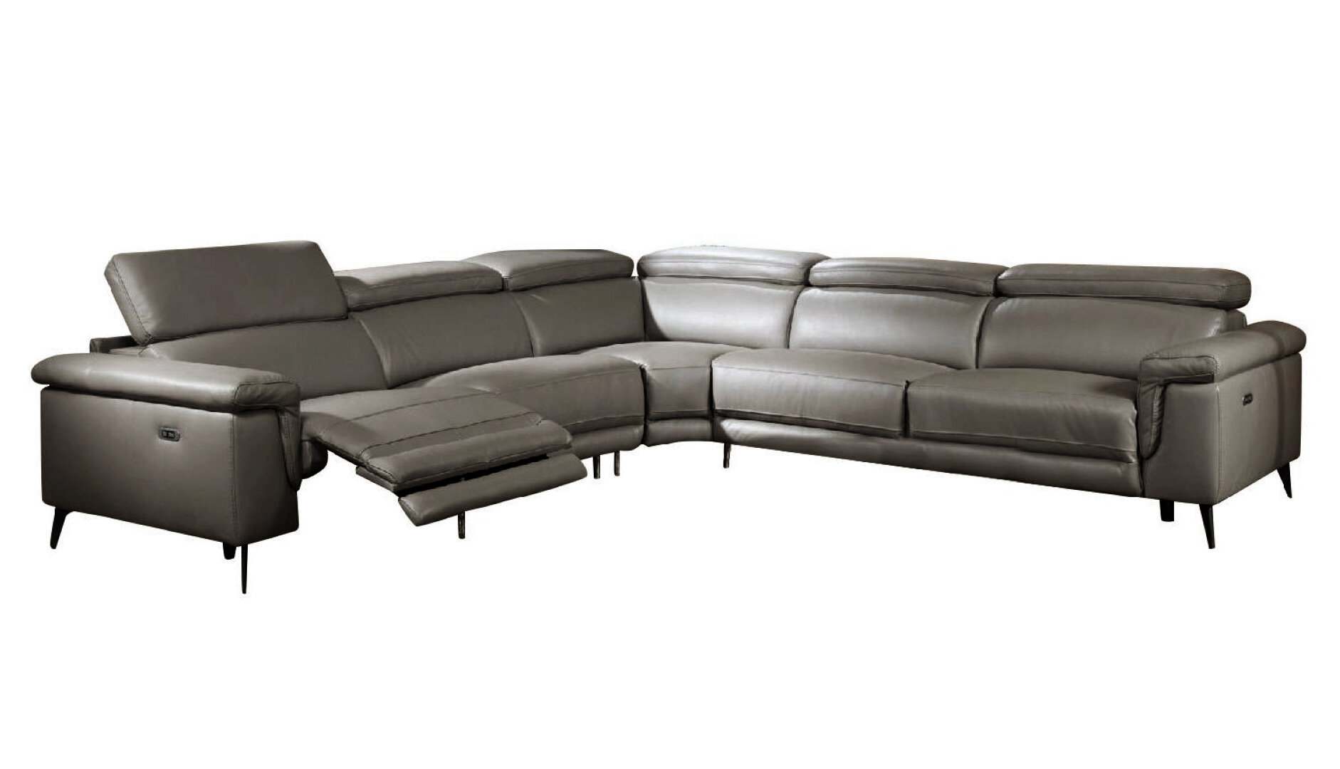 Picture of: Orren Ellis Philippa 122 Wide Genuine Leather Right Hand Facing Reclining Corner Sectional Reviews Wayfair