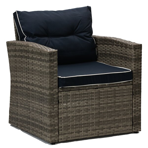 Mireya Patio Chair with Cushions (Set of 2) by Longshore Tides