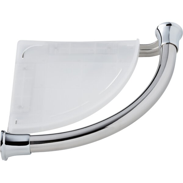 Bath Safety Grab Bar with Corner Shelf by Delta
