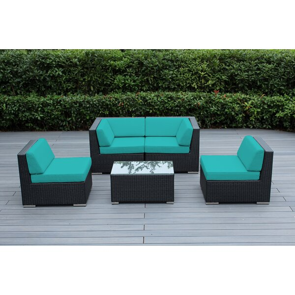 Baril 5 Piece Sofa Seating Group with Cushions by Wade Logan