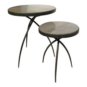 Tripod End Table with Marble Top by Global Views