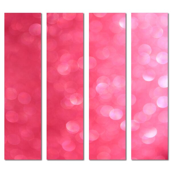 Custom 3 x 12 Beveled Glass Subway Tile in Pink by Upscale Designs by EMA
