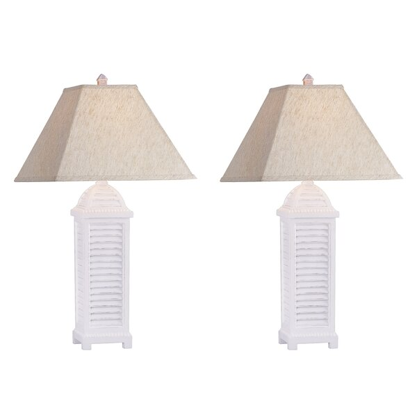 Azaiah Shutter 30 Table Lamp (Set of 2) by Highland Dunes