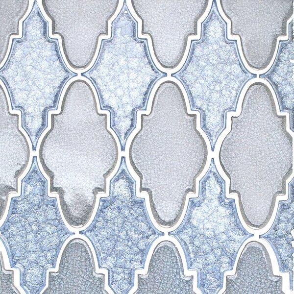 Roman Selection Glass Mosaic Tile in Iced Blue by Splashback Tile