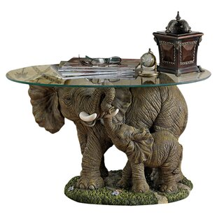 Elephant S Majesty Coffee Table With Gl Top Animal Tables Drinker