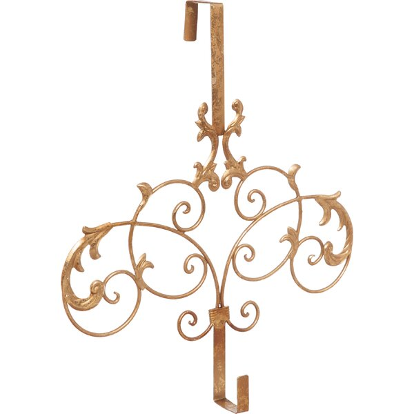 Formal Scroll Wreath Holder Hanging Accessory by The Holiday Aisle