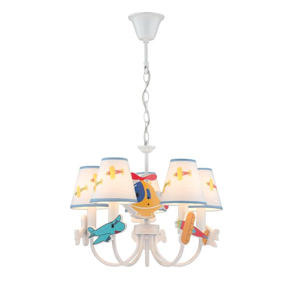 Cary 5-Light Shaded Chandelier by Zoomie Kids