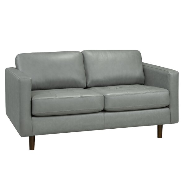 Lassen Genuine Leather Loveseat by Brayden Studio