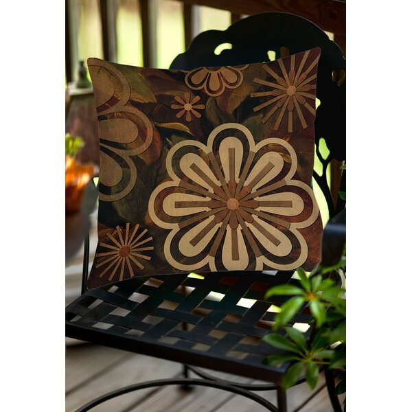 Floral Abstract II Indoor/Outdoor Throw Pillow by Manual Woodworkers & Weavers